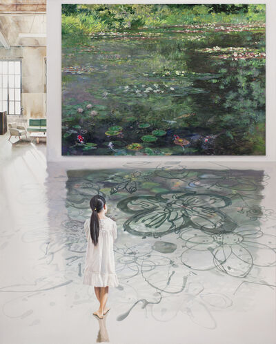 Bae Joon Sung, 'The Costume of Painter - At the studio-doodling on monet 1', 2020