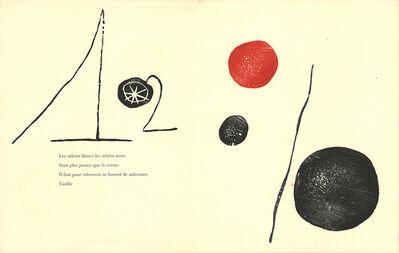 Joan Miró, 'Gravure sur bois 2', 1958