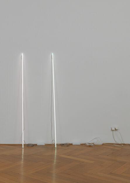 Cerith Wyn  Evans, 'Leaning Horizon (neon 6500 Kelvin, 1.8 m) & Leaning Horizon (neon 5500 Kelvin, 1.8 m)', 2015