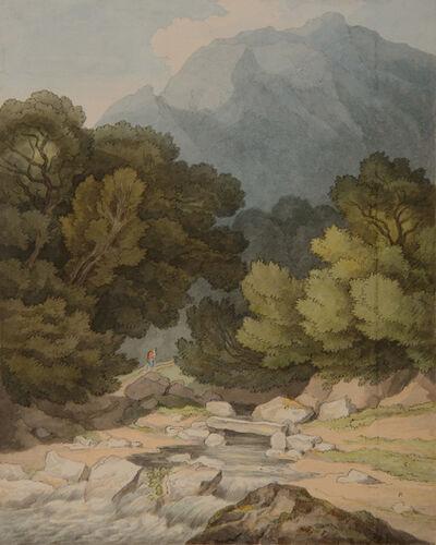 John White Abbott, 'Downstone Rock from Saugh Mill, Devon', 1831