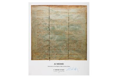 Ai Weiwei, 'Declaration of the Rights of Man and the Citizen', 2019