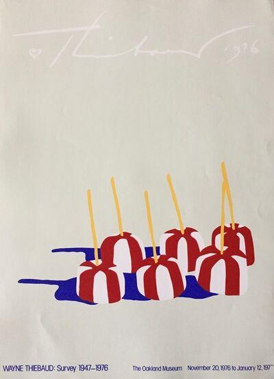 "Wayne Thiebaud, 'Silkscreen for ""Survey at Oakland Museum"", 1947-1976', 1976"