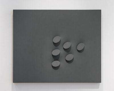 Turi Simeti, 'Sei ovali in grigio', 1993