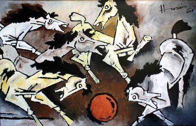 Maqbool Fida Husain, 'Horses', 2001