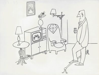 Saul Steinberg, 'The Home Sports Bar'