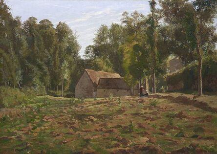 Henri Rouart, 'Paysage à la ferme', ca. 1885
