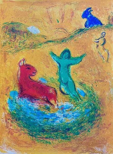 "Marc Chagall, '""Le Piège à Loups (The Wolf Trap)"" from Daphnis et Chloé (Cramer 46; Mourlot 312)', 1977"