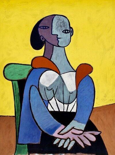Pablo Picasso, 'Femme a la Chaise sur Fond Jaune', 1982