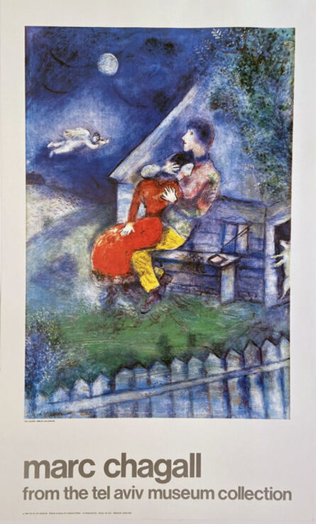 """Marc Chagall, 'Marc Chagall, from the tel aviv museum collection, featuring the painting , """"The Lovers"""", 1929 Poster', 1984"""