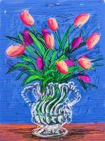 David Hockney, 'Tulips (signed)', 2010