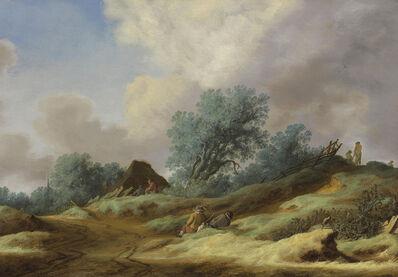 Salomon van Ruysdael, 'A landscape with peasants on a dune', 1629