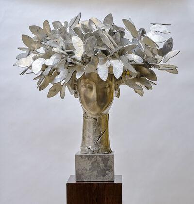 Manolo Valdés, 'Cabeza con mariposas (plateada)', 2009
