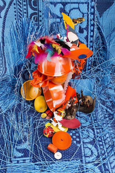 Lorenzo Vitturi, 'Plastic, Laser Cut-Outs and Blue', 2017