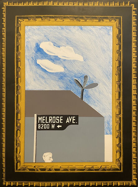 David Hockney, 'Picture of Melrose Avenue in an ornate Gold Frame, from: A Hollywood Collection (MCATokyo 44)', 1965
