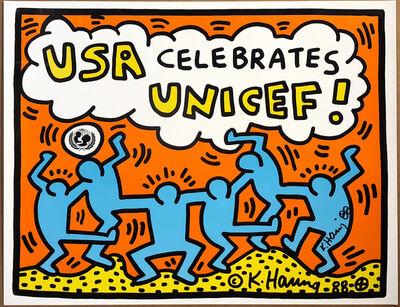 Keith Haring, 'USA Celebrates Unicef!', 1988