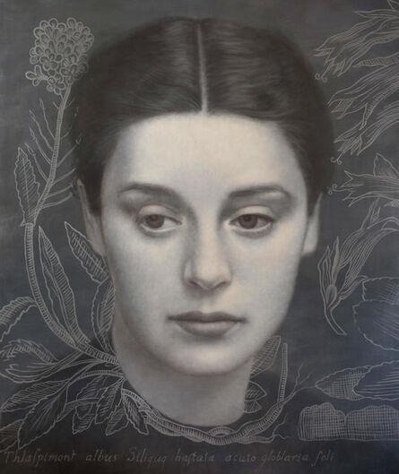 Alberto Gálvez, 'Mujer con Thalaspi después de la ferrotipia de Otto Steinert.', 2017