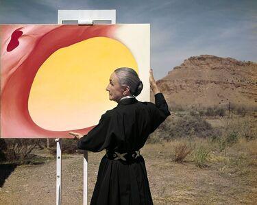 Tony Vaccaro, 'Georgia O'Keeffe, Taos Pueblo, New Mexico', 1960