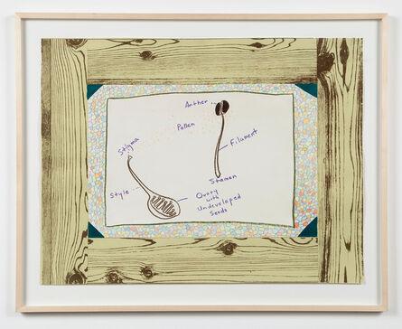 Ree Morton, 'Untitled (Woodgrain, Flower Parts)', ca. 1974
