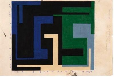 Willys de Castro, 'Estudo para composiçao VI: distribução ritmica sobre um sistema modulado', 1953