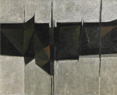 Alan Reynolds, 'Abstract: Green, Black and Grey ', 1959