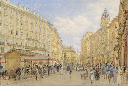 Franz Alt, 'The Graben street in Vienna', 1890
