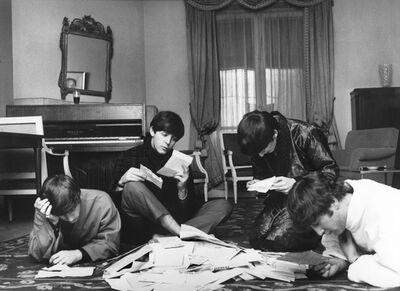 Harry Benson, 'The Beatles reading their fan mail, Paris', 1964