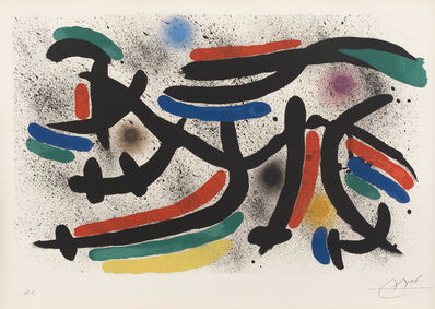 Joan Miró, 'Joan Miró Lithographe I: one plate (M. 865, see C. 160)', 1972