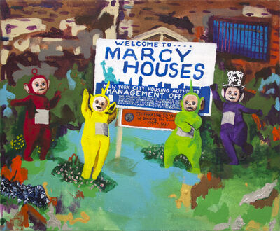 Huey Crowley, 'Teletubbies bringing joy to the Marcy Projects', 2016