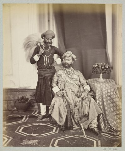 Samuel Bourne, 'Tukoji Rao II Holkar, maharaja d'Indore', Madhya Pradesh, 1863, 1870