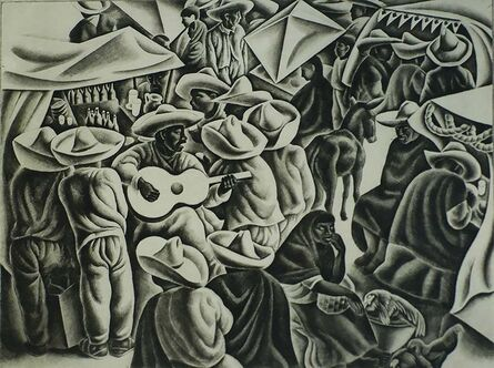 Howard Cook, 'Fiesta (Taxco)', 1933