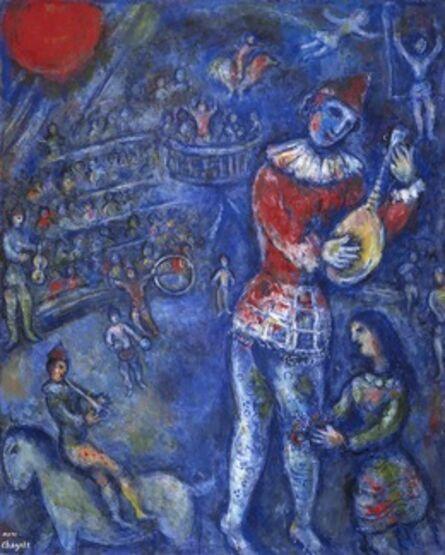 Marc Chagall, 'Clown with Mandolin', 1975-1976