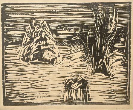 Edvard Munch, 'GARDEN IN SNOW, II', 1913