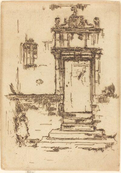 James Abbott McNeill Whistler, 'Chapel Doorway, Montresor', 1888