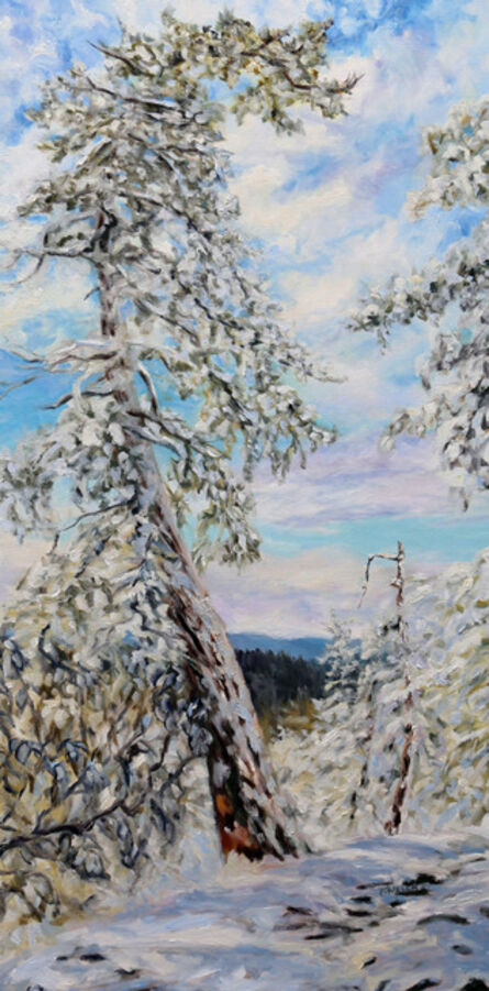 Terrill Welch, 'Winter with the Old Fir on the Ridge', 2014