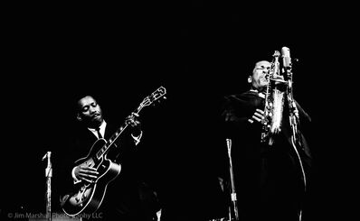 Jim Marshall, 'John Coltrane & Wes Montgomery, Monterey Jazz Festival', 1961