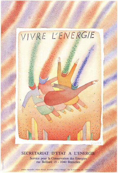 Jean Michel Folon, 'Vivre L'energie', 1982