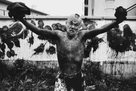William Klein, 'Ushio Shinohara, boxeur peintre, Tokyo', 1961