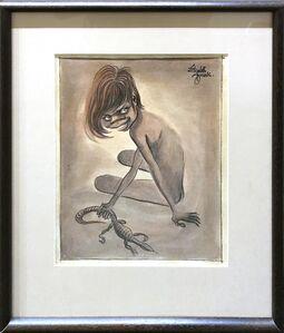 Elizabeth Durack, 'Girl With Goanna', 1940-1999