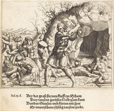 Augustin Hirschvogel, 'Samson Slays the Philistines', 1548