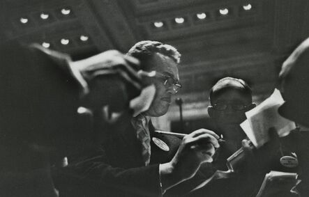 Marvin E. Newman, 'Traders in New York Stock Exchange Pit', 1957