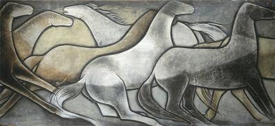 Frank Mechau, 'Wild Horses', 1936