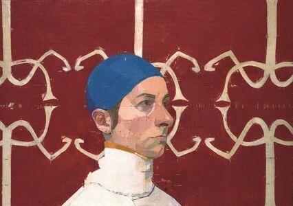 Euan Uglow, 'Sue Wearing a Blue Swimming Cap', 1978-1980