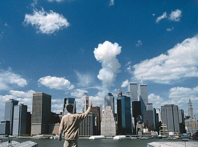 Cai Guoqiang 蔡国强, 'The Century with Mushroom Clouds: Project for the 20th Century (Looking toward Manhattan)', 1996