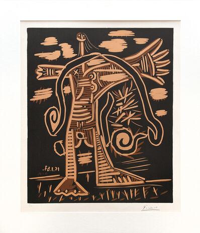 Pablo Picasso, 'Baigneuse debout avec une cape. (Standing Bather with a Cloak.)', 1963