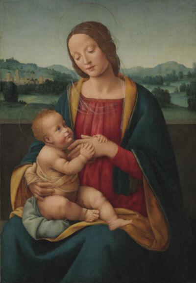 Giovanni Antonio Sogliani, 'The Madonna and Child before a landscape'