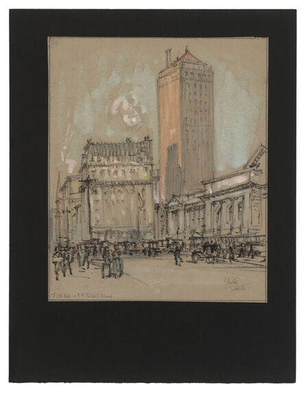Jules Andre Smith, 'A View of the New York Public Library from Fifth Avenue', ca. 1915