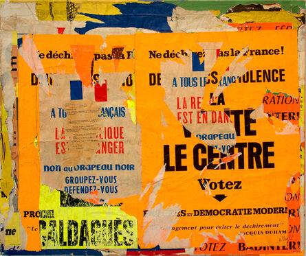 Jacques Villeglé, 'Sèvres-Babylone – Ne déchirez pas la France', 8 août 1968