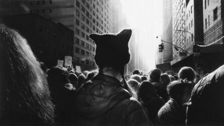 Robert Longo, 'Untitled (Black Pussy Hat in Women's March)', 2017
