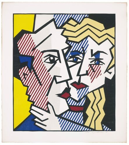 Roy Lichtenstein, 'The Couple, from Expressionist Woodcut Series', 1980