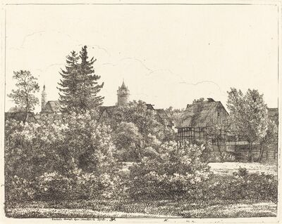 Christoph Nathe, 'Lauban in Silesia', 1805